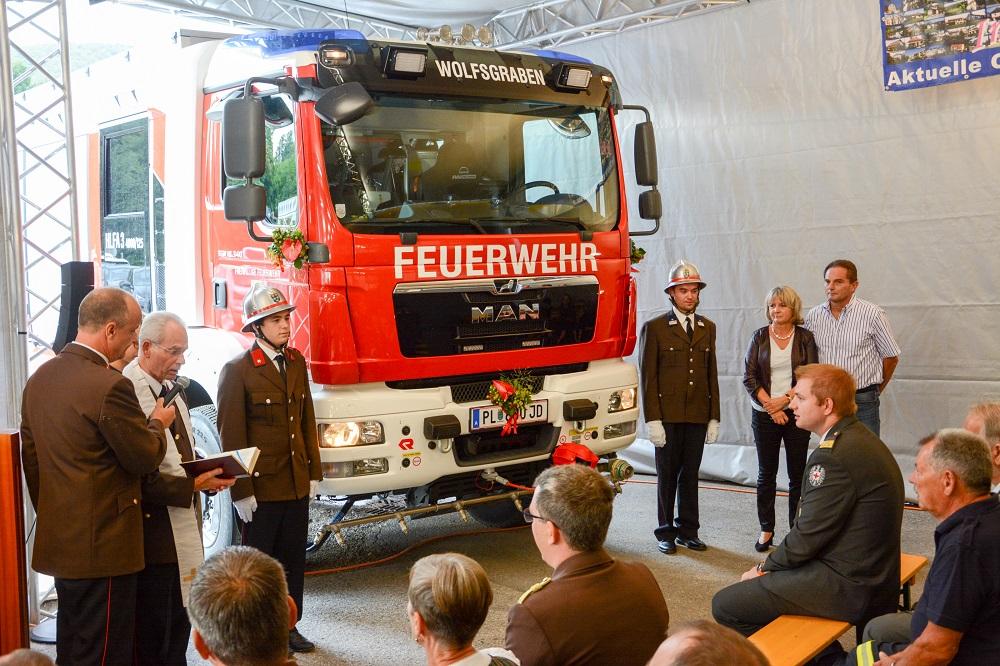 Segnung HLFA3 – Feuerwehr Wolfsgraben