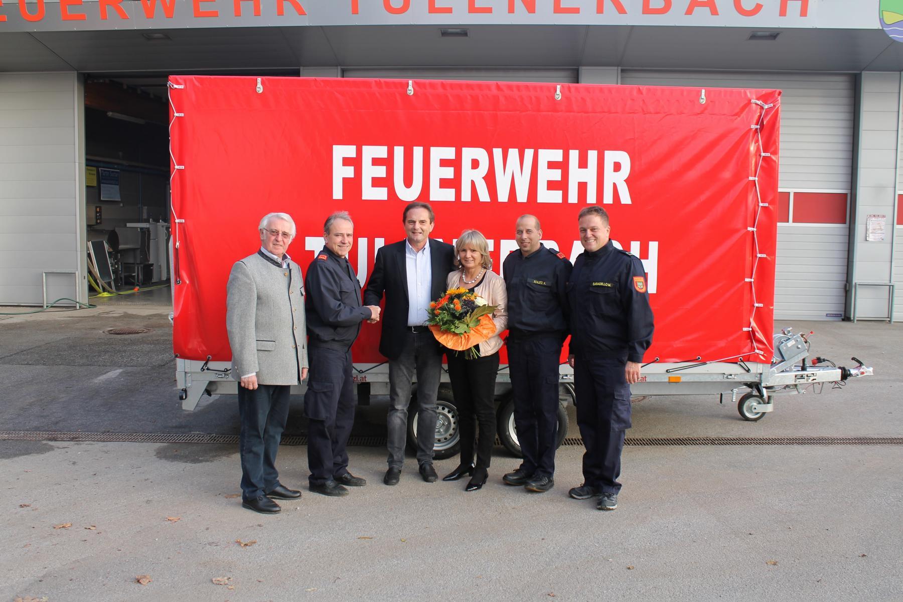 Unterstützung der Freiwilligen Feuerwehr Tullnerbach