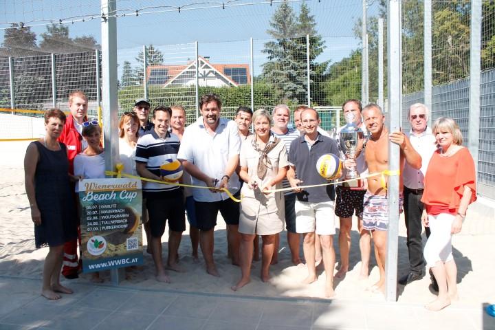 Eröffnung Beachvolleyball Platz im Wienerwaldbad in Purkersdorf